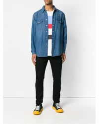 Ck Jeans Blue Classic Button Denim Shirt for men