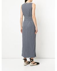 Tu Es Mon Tresor - Blue Tied Gingham Maxi Dress - Lyst