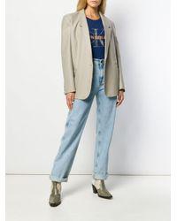 Calvin Klein メタリック ロゴ Tシャツ Blue