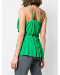Top cruzado drapeado MSGM de color Green