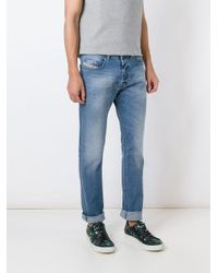 DIESEL Blue 'buster' Regular Jeans for men