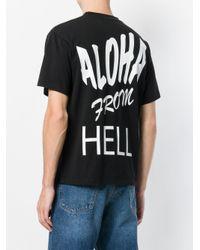 Aries Black Aloha T-shirt for men