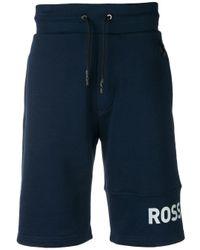 Shorts running con logo di Rossignol in Blue da Uomo