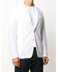 Altea White Textured Single-breasted Blazer for men