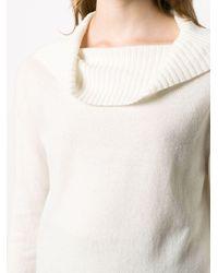 Lamberto Losani オーバーサイズカラー カシミアセーター Multicolor