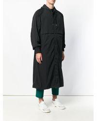 Coupe-vent long à capuche AMI pour homme en coloris Black