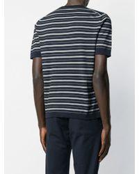 メンズ Lardini ストライプ Tシャツ Blue