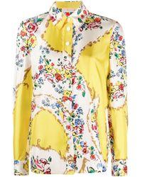 Рубашка С Цветочным Принтом Tory Burch, цвет: Yellow