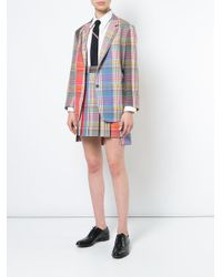 Thom Browne - Red Fun Mix Plaid Skirt - Lyst