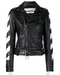 Куртка В Диагональную Полоску Off-White c/o Virgil Abloh, цвет: Black