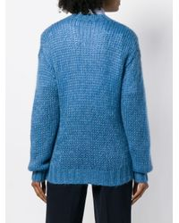 Prada ラウンドネック セーター Blue