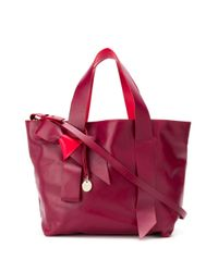 RED Valentino リボン ハンドバッグ Red