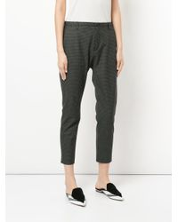 Hope - Gray Krissy Checked Trousers - Lyst