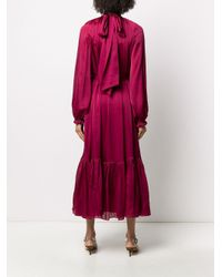 Zimmermann Red Long Sleeved Pleated Dress
