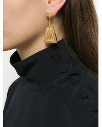 Lucy Folk Metallic Immortal Drop Earrings