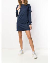 Pinko Blue Cut-out Sweater Dress