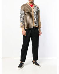 メンズ Just Cavalli マルチパターン セーター Black