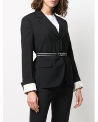 Prada ベルテッド シングルジャケット Black