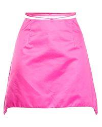 Helmut Lang ラップミニスカート Pink