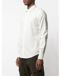 メンズ Barena ストライプ シャツ White
