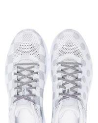 Hoka One One White Grey Hupana 2 X Engineered Garments Polka Dot Sneakers for men