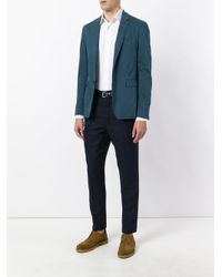 Burberry - Blue Slim-fit Blazer for Men - Lyst