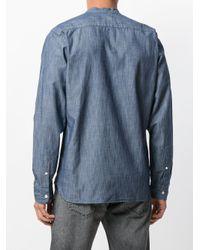 Levi's Blue Band Collar Denim Shirt for men