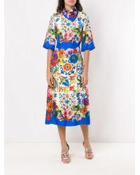 Vestido estampado de manga corta Dolce & Gabbana de color Blue