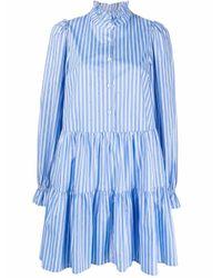 Essentiel Antwerp ストライプ シャツドレス Blue
