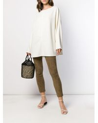 The Row オーバーサイズ セーター White