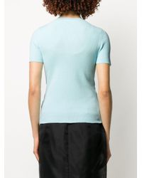 Camiseta de manga corta con cremallera Helmut Lang de color Blue