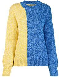 Chinti & Parker バイカラー セーター Blue