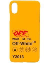 Cover per iPhone XS Max con stampa di Off-White c/o Virgil Abloh in Yellow da Uomo