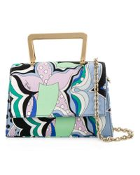 Emilio Pucci Multicolor Patterned Shoulder Bag