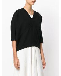 Oyuna Black V-neck Knitted Top