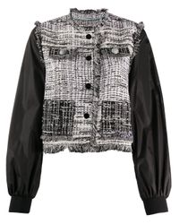 Pinko Black Tweed Bomber Jacket