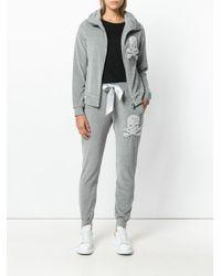 Philipp Plein Gray Kiss Snell Jogging Trousers