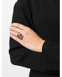 Alexander McQueen - Metallic Bug Plaque Ring - Lyst