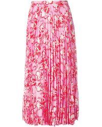 Valentino フローラル プリーツスカート Pink