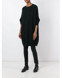 R13 Black Oversized Sweatshirt