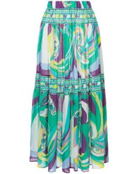 Emilio Pucci Green Pleated Skirt