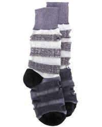 メンズ Issey Miyake カラーブロック靴下 Multicolor