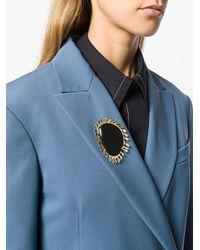 Marni Black Oversized Pendant Brooch