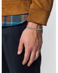 A.P.C. - Gray Rayure Chain Bracelet for Men - Lyst