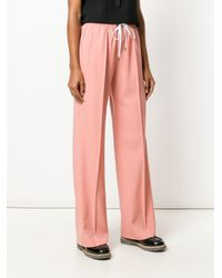 Miu Miu ドローストリング フレアパンツ Pink