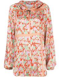 Blusa oversize con estampado abstracto y capucha Rejina Pyo de color Multicolor