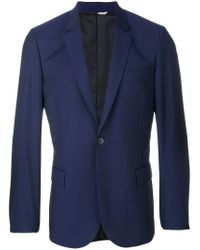 PS by Paul Smith - Blue Scalloped Suit Jacket for Men - Lyst