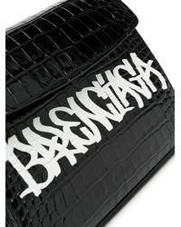 Balenciaga クロコパターン ショルダーバッグ Black