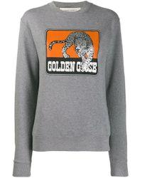 Golden Goose Deluxe Brand プリント スウェットシャツ Gray