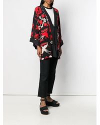 Veste imprimée d'inspiration kimono RED Valentino en coloris Black